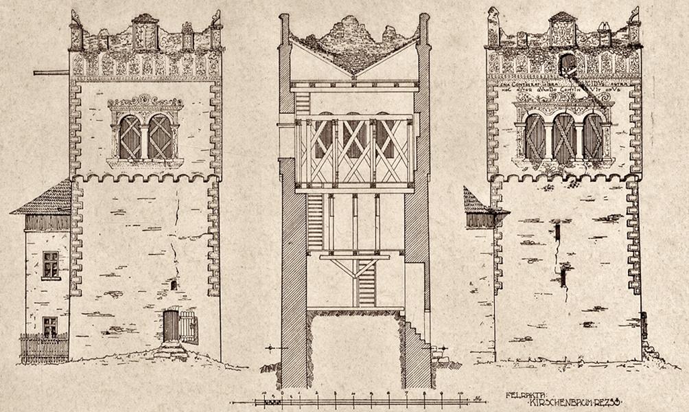Pártázatos reneszánsz várkastély látványterve - Kuny Domokos Múzeum, CC BY