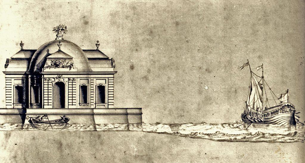 A tatai várkastély terve - Kuny Domokos Múzeum, CC BY
