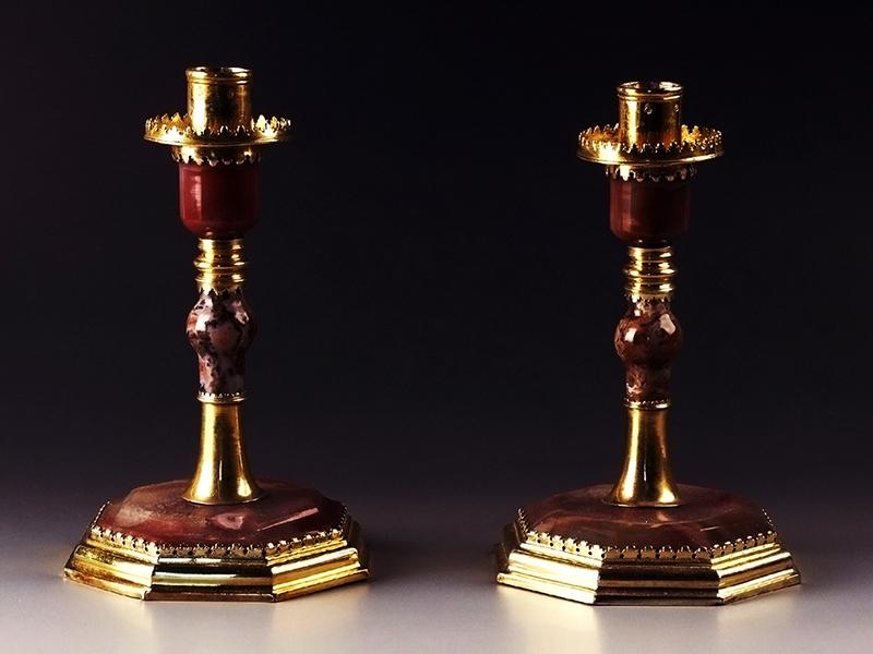 Aranyozott ezüst gyertyatartók - Déri Múzeum, CC BY-NC-ND