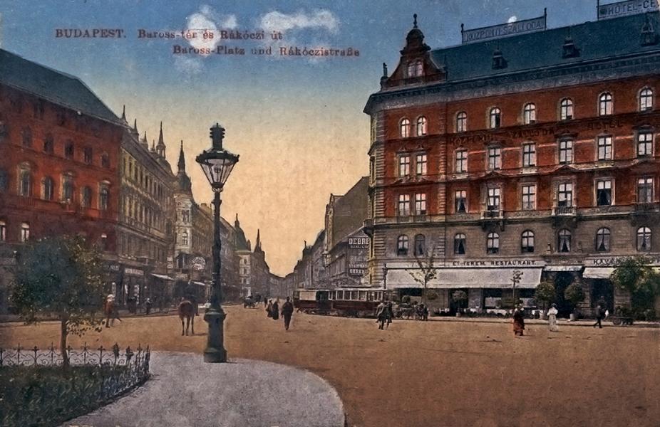 Gázlámpa a Központi szállodánál - Magyar Kereskedelmi és Vendéglátóipari Múzeum, CC BY-NC-ND