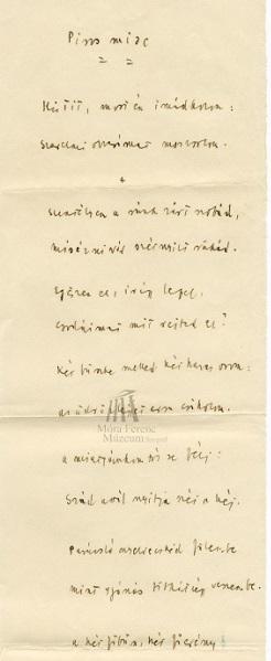 Móra Ferenc levelezése - Móra Ferenc Múzeum, CC BY-NC-ND