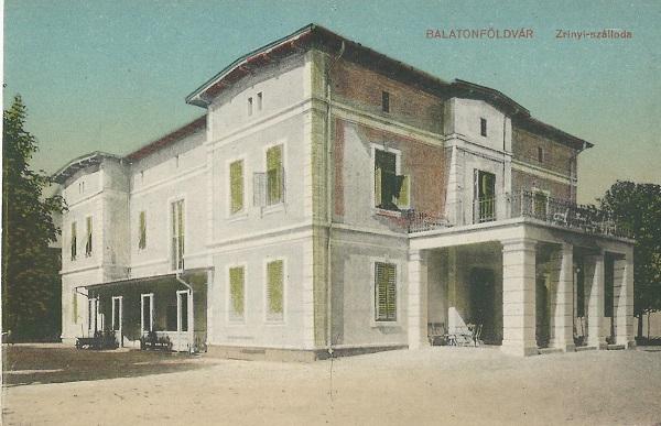 Zrínyi Szálloda - képeslap, Balatonföldvár, 1910-es évek - MKVM, CC BY-NC-ND