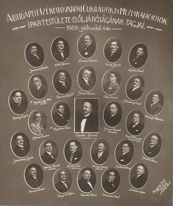 Cukrászok és Mézeskalácsosok Ipartestülete, Budapest, 1926. - MKVM, CC BY-NC-ND