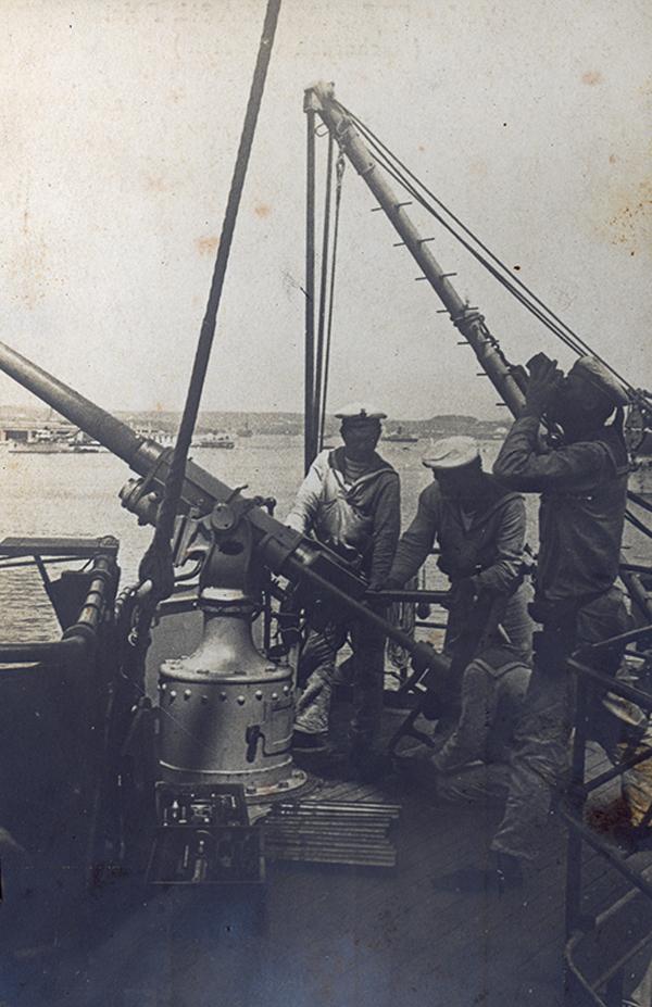 Légiriadó a hadihajón - Magyar Ferences Könyvtár, CC BY