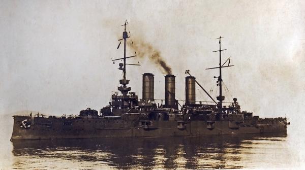 S.M.S. Erzherzog Karl, az Osztrák–Magyar Monarchia csatahajója - Magyar Ferences Könyvtár, CC BY
