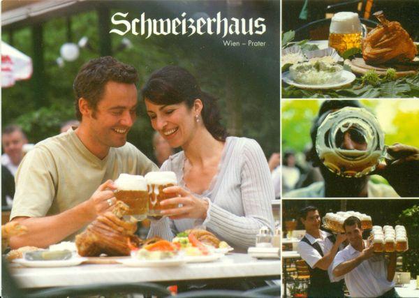 Schweitzerhaus étterem Bécs képeslap - MKVM, CC BY-NC-ND