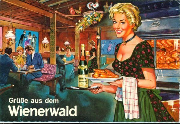 Kisvendéglő belseje pincérlánnyal Wienerwald - MKVM, CC BY-NC-ND