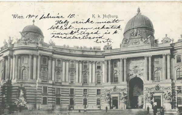 K.k. Hofburg, Wien - képes levelezőlap - MKVM, CC BY-NC-ND