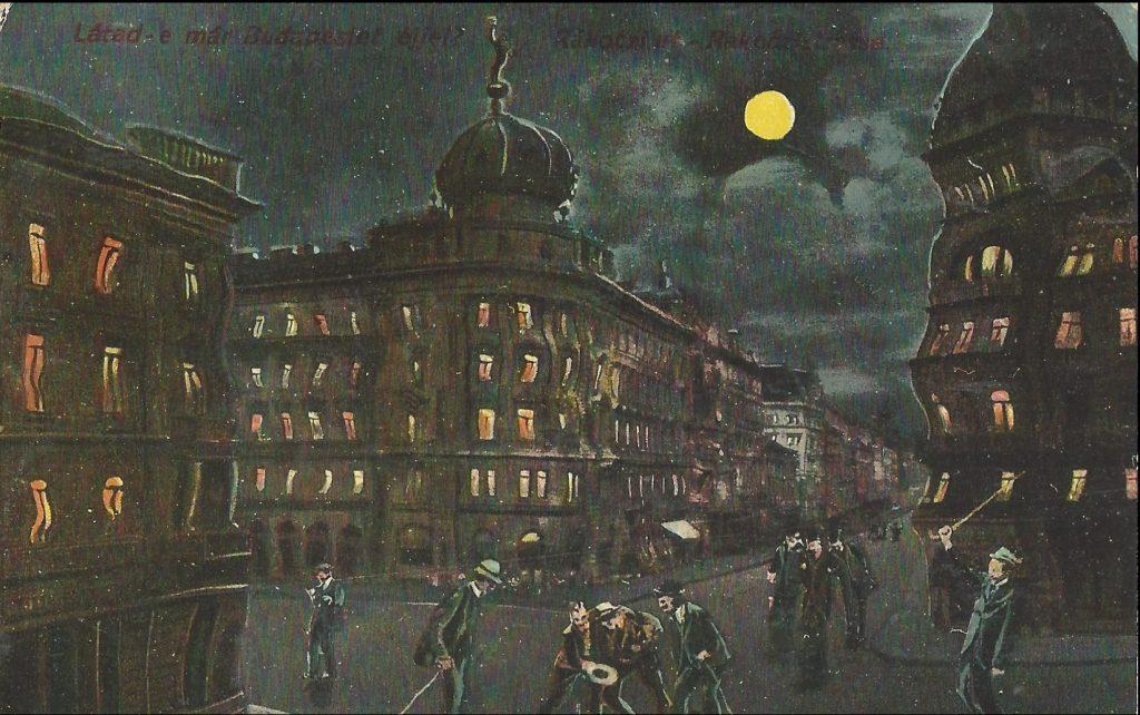 Láttad e már Budapestet éjjel? - képes levelezőlap MKVM CC BY-NC-ND