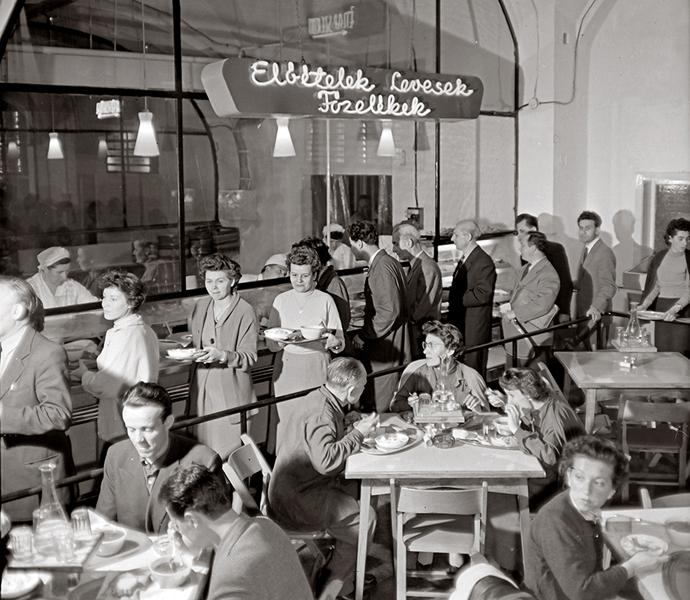 Sorban állás 1959-ben - Fortepan, CC BY-SA