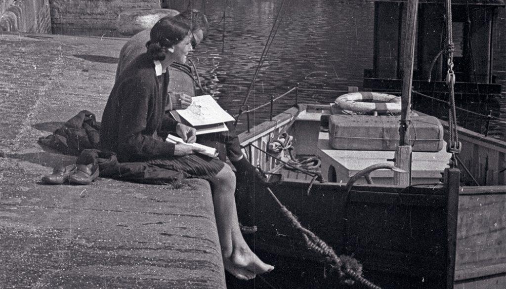 Ráérősen a kikötőnél 1967-ben - Fortepan, CC BY-SA