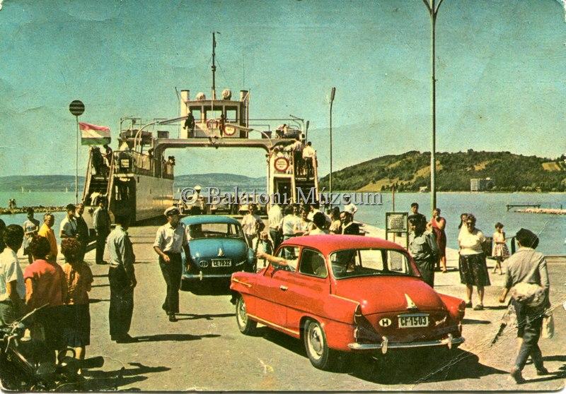 A szántódi révnél az 1960-as években - Balatoni Múzeum, CC BY-NC-ND