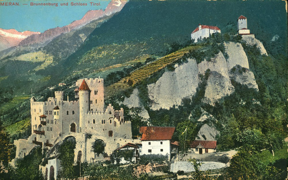 A meranoi vár egy 1911-ben kiadott képeslapon - Terleczky József, CC BY-NC-ND