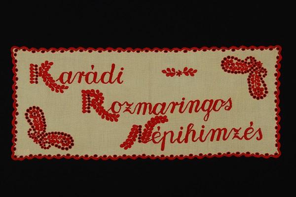 Karádi hímzés - Rippl-Rónai Megyei Hatókörű Városi Múzeum, CC BY-NC-SA