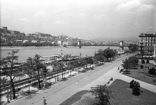 Duna korzó - látkép - Fortepan, CC BY-SA