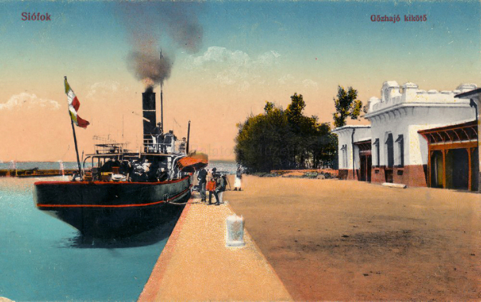 Siófoki kikötő (1917) - Terleczky József, CC BY-NC-ND
