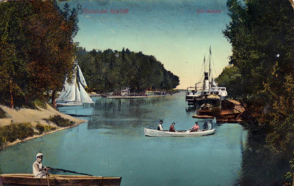 Siófok látképe egy képeslapon (1912) - Terleczky József, CC BY-NC-ND