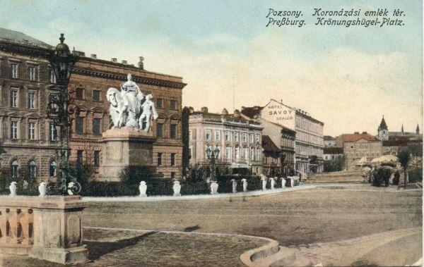 Magyar Király Szálloda és Savoy Szálloda - képeslap, Pozsony , 1913 - Magyar Kereskedelmi és Vendéglátóipari Múzeum, CC BY-NC-ND