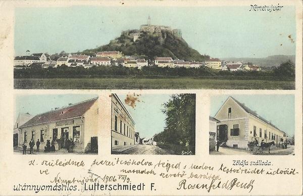 Zöldfa Szálloda - képeslap, Németújvár, 1906 - MKVM, CC BY-NC-ND