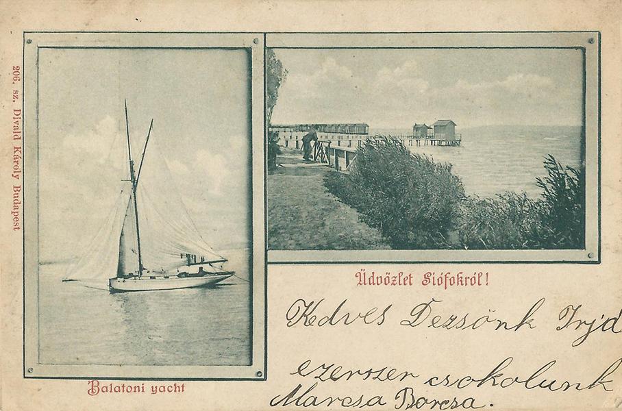 Képeslapon Siófok és a Balaton (1893) - MKVM, CC BY-NC-ND