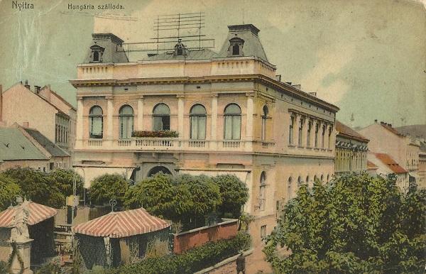 Hungária Szálloda - képeslap, Nyitra, - Magyar Kereskedelmi és Vendéglátóipari Múzeum, CC BY-NC-ND
