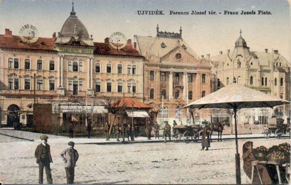 Récsei Nagyszálloda - képeslap, Újvidék, -  Magyar Kereskedelmi és Vendéglátóipari Múzeum, CC BY-NC-ND