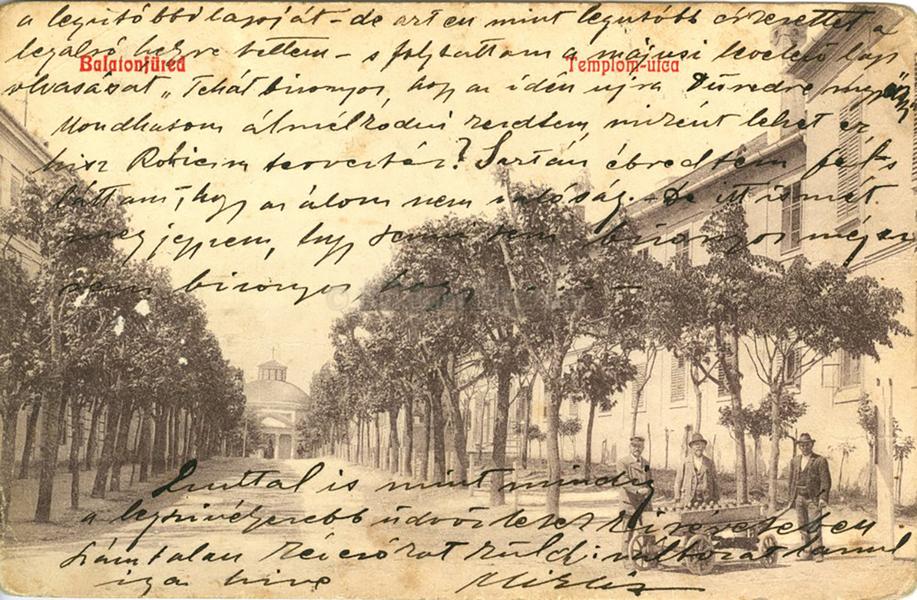 Balatonfüred, Templom utca (1890) - Terleczky József, CC BY-NC-ND