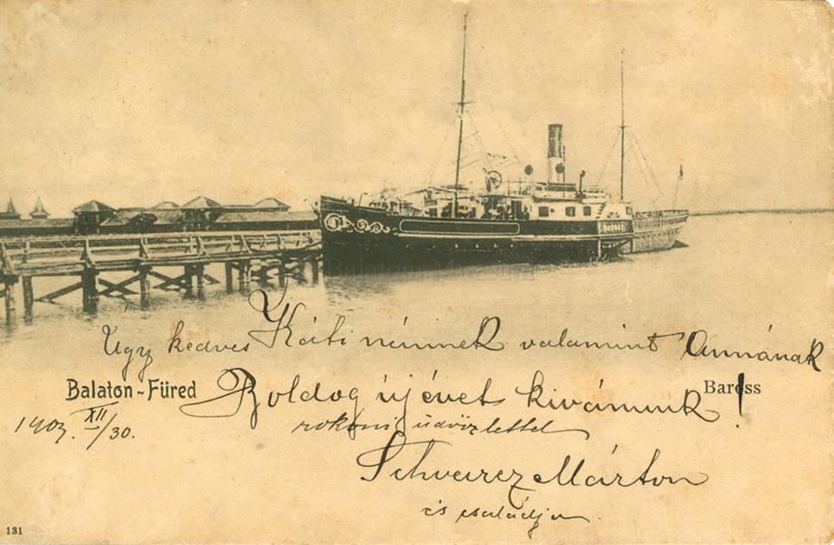A Baross gőzhajó a Balatonon, (1904) - Terleczky József, CC BY-NC-ND