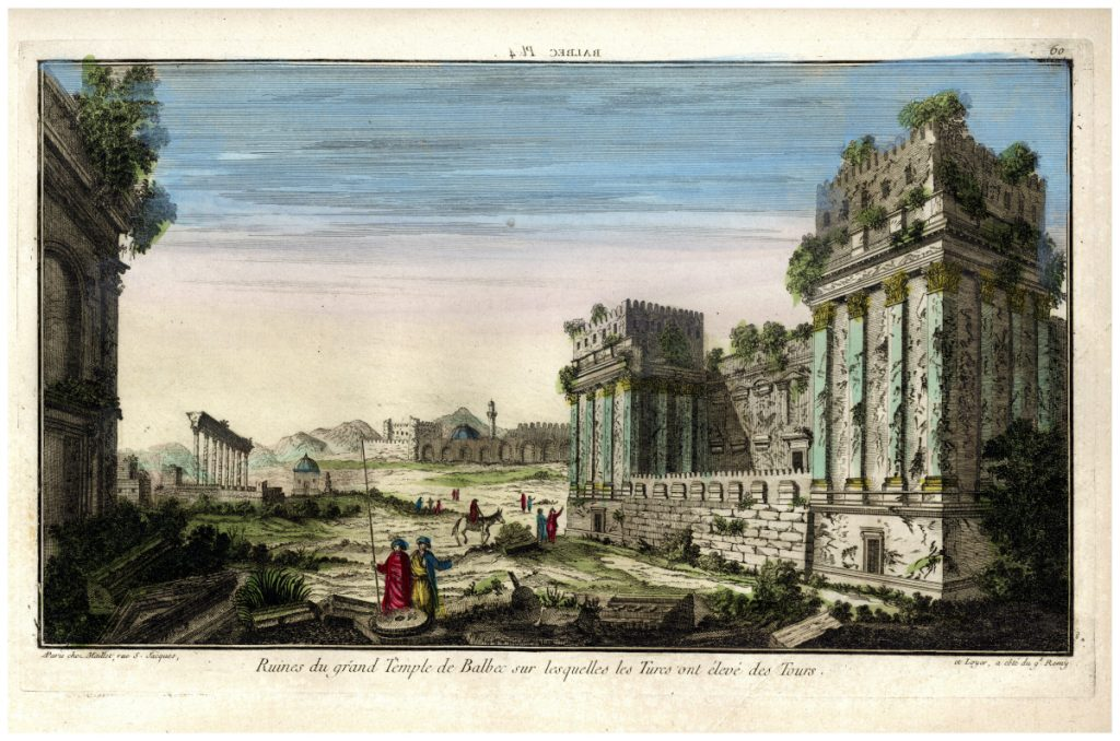 A baalbek-i templom romjainak látképe – Piarista Múzeum CC BY-NC-ND