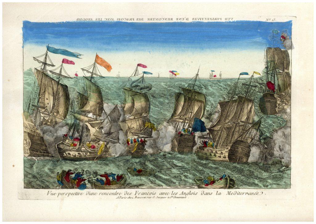 Hajóütközet a Földközi-tengeren – Piarista Múzeum CC BY-NC-ND