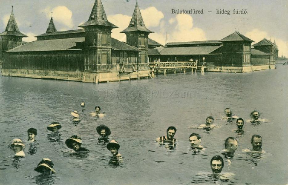 Balatonfüredi hideg fürdő (1910) - Balatoni Múzeum, CC BY-NC-ND