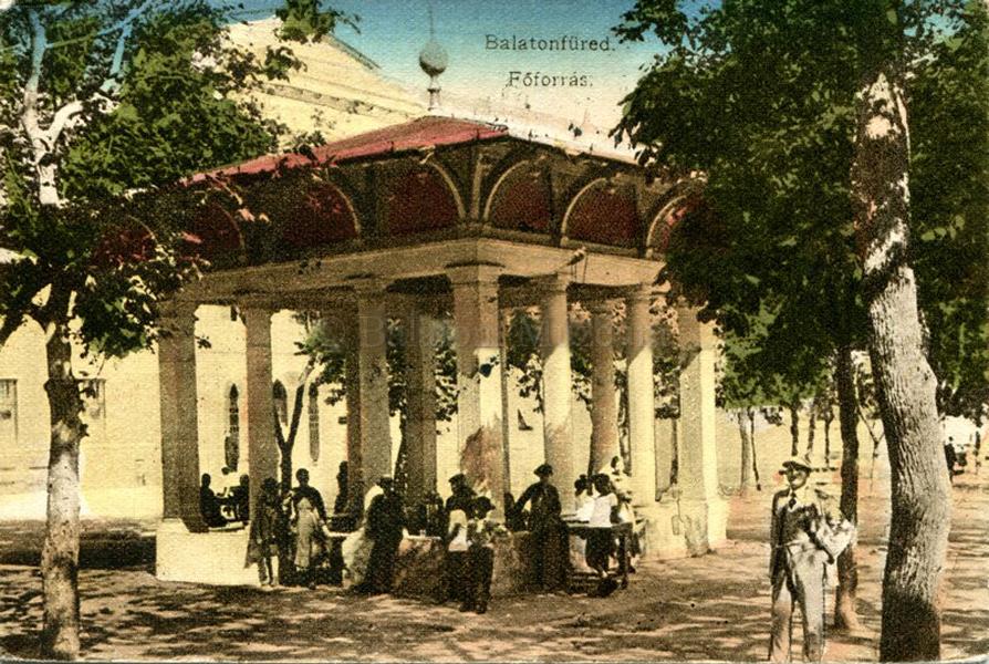 A balatonfüredi főforrásnál (1929) - Balatoni Múzeum, CC BY-NC-ND
