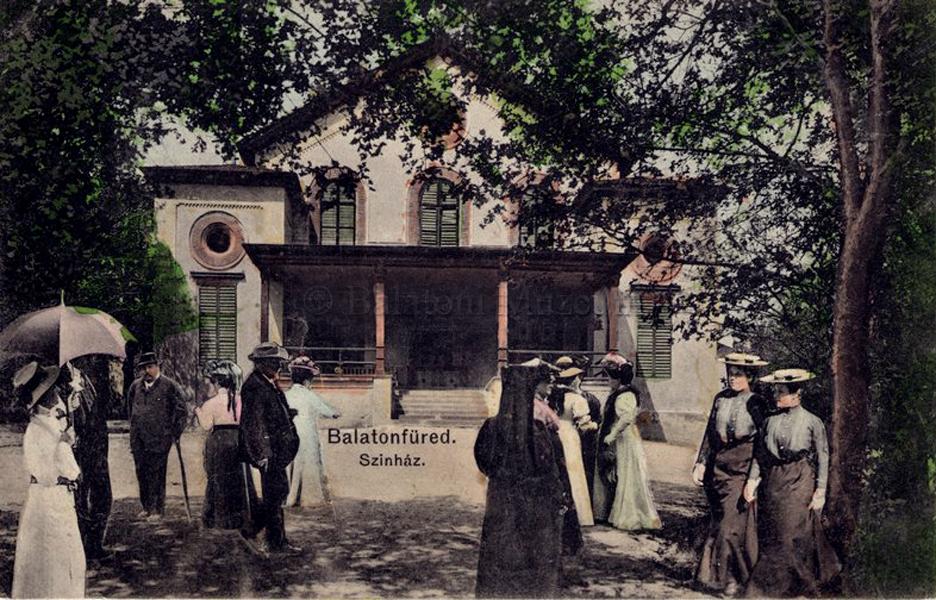 A balatonfüredi színház (1911) - Balatoni Múzeum, CC BY-NC-ND