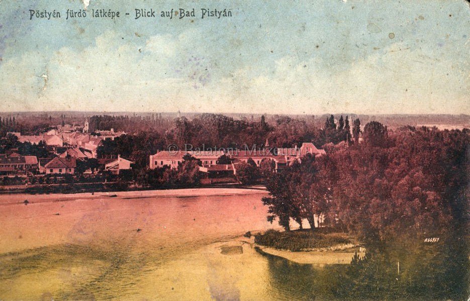 Pöstyénfürdő látképe (1910) - Terleczky József, CC BY-NC-ND