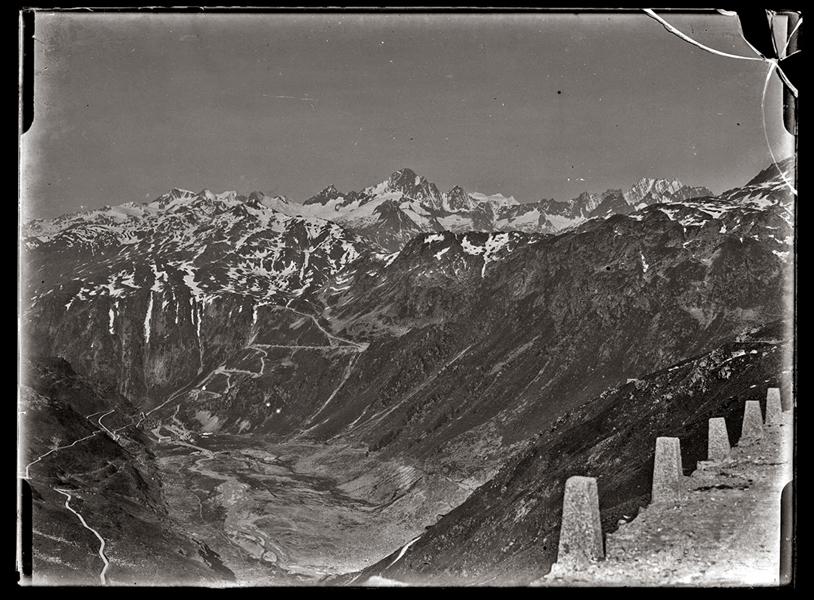 Havas hegycsúcsok madártávlatból (1900-as évek eleje) - Kuny Domokos Múzeum, CC BY