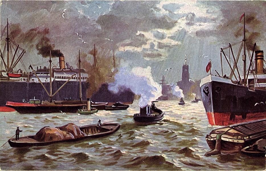 Képeslap I. világháborús tengeri jelenettel - Piarista Rend Magyar Tartománya, CC BY-NC-ND