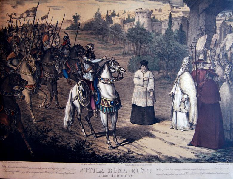 Attila Róma előtt - Tiszántúli Református Egyházkerületi és Kollégiumi Nagykönyvtár, CC BY-NC-ND