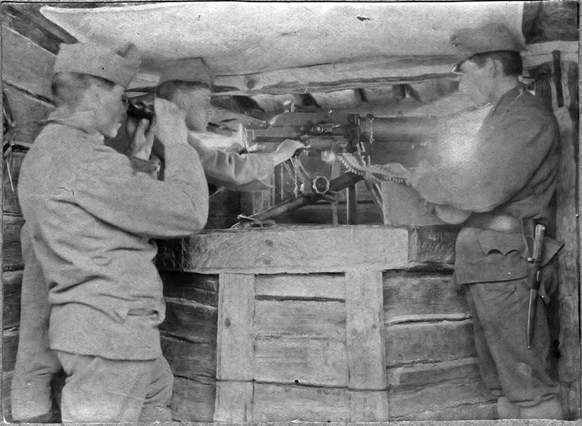 Géppuska állás - Thorma János Múzeum, CC BY-NC-ND