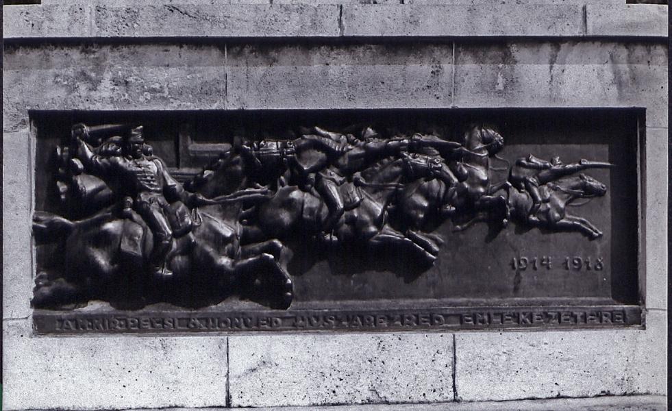 1914-18 lovasokról dombormű - Tóth Tibor Endre, PDM