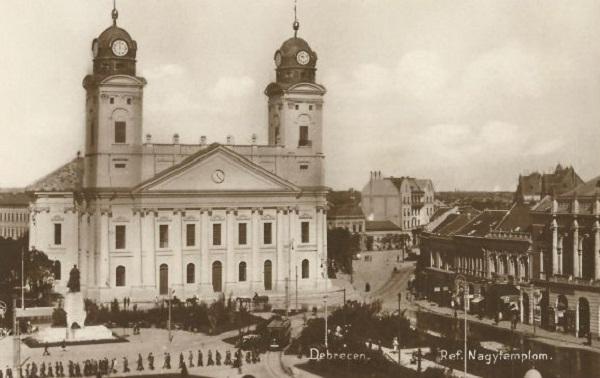 Debreceni Református Nagytemplom - levelezőlap - Magyar Kereskedelmi és Vendéglátóipari Múzeum, CC BY-NC-ND