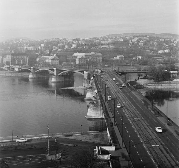 Margit híd Pestről nézve - Fortepan, CC BY-SA