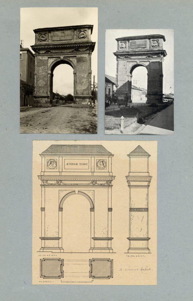 Révhelyi Elemér képei – váci diadalív - Kuny Domokos Múzeum, CC BY