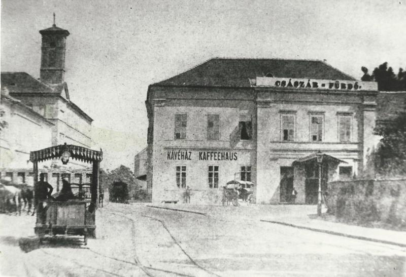 Császárfürdő Kávéház, Budapest, XIX. század vége - MKVM, CC BY-NC-ND