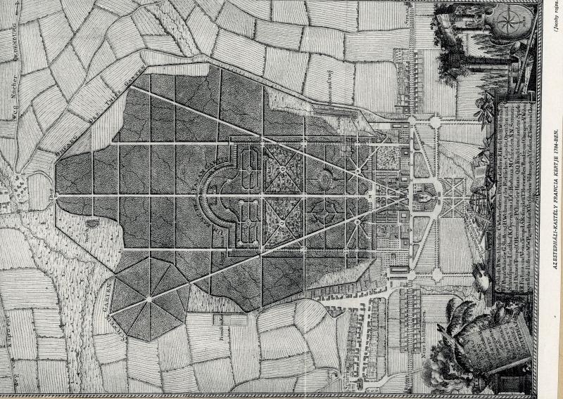 Révhelyi Elemér képei – Fertődi Esterházy-kastély francia kertje - Kuny Domokos Múzeum, CC BY