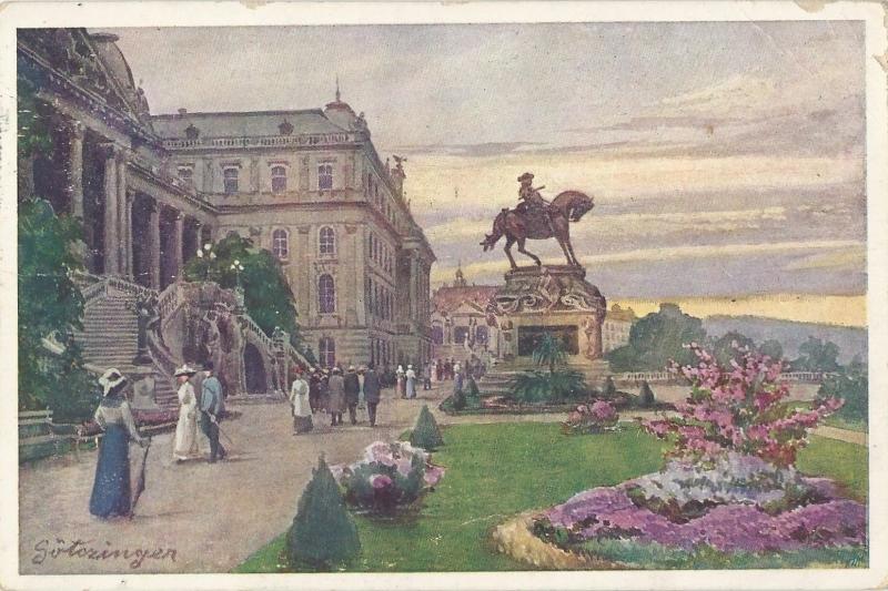 Királyi vár, Jenő herceg szoborral, képeslap - MKVM, CC BY-NC-ND