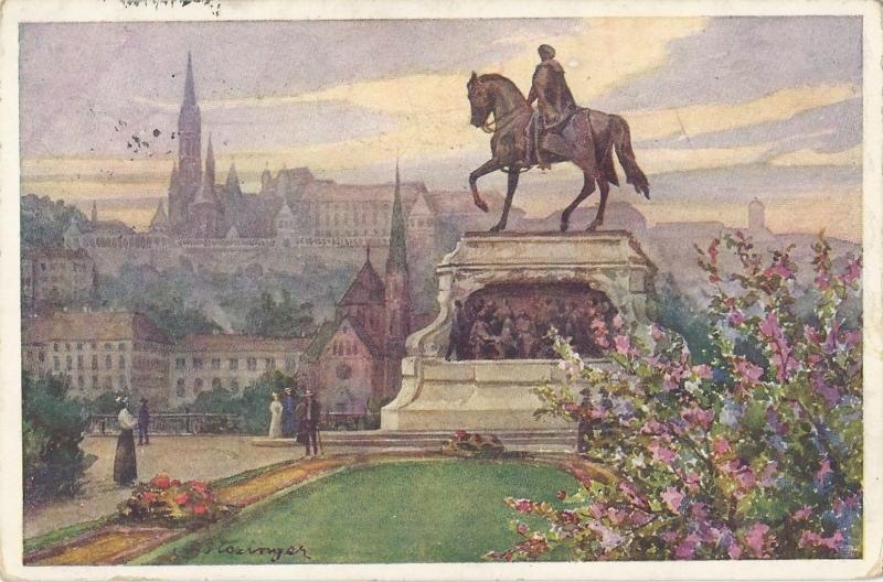 Andrássy-szobor, képeslap - Magyar Kereskedelmi és Vendéglátóipari Múzeum, CC BY-NC-ND