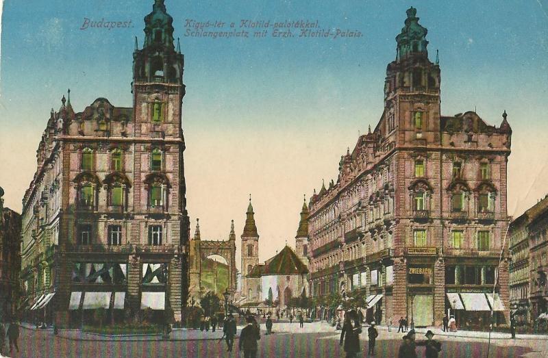 Ferenciek tere 1917-ben - Magyar Kereskedelmi és Vendéglátóipari Múzeum, CC BY-NC-ND