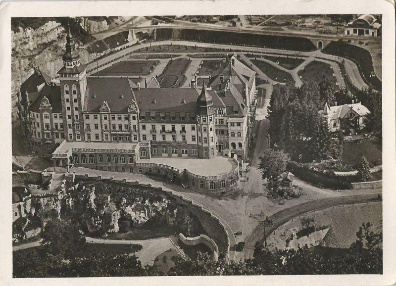 Palotaszálló madártávlatból - képeslap, Lillafüred, 1930-as évek - MKVM, CC BY-NC-ND