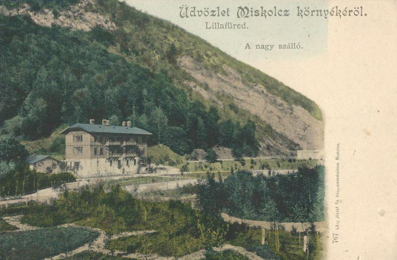 Nagy Szálloda - képeslap, Lillafüred, 1900-as évek - MKVM, CC BY-NC-ND