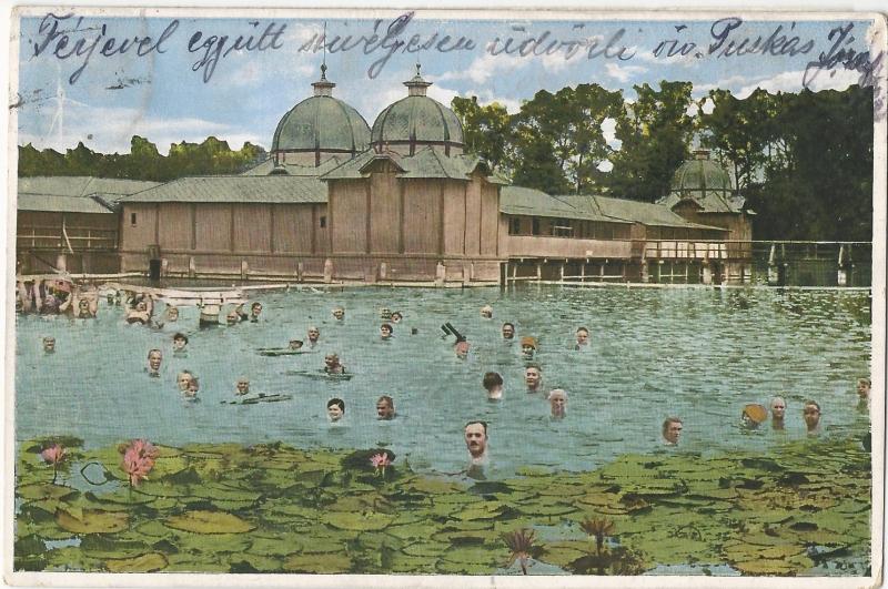 Hévíz - képeslap, gyógyfürdő, 1931 - MKVM, CC BY-NC-ND